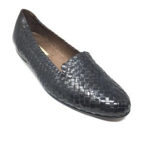 Bragano Cole Haan Loafers Shoes Size 9 Black Woven